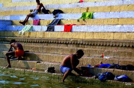 Not only sins but cloths are also washed in the Ganges