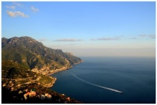 Amalfi coast line-view from Ravello