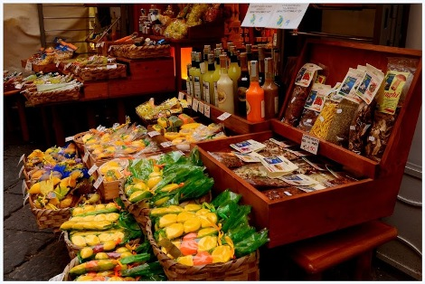 Limoncello, soaps and spices in Amalfi, Campania