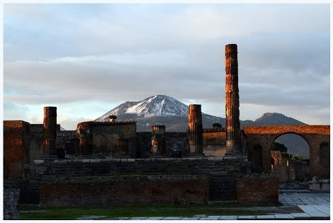 Mt. Vesuvius as seen from Pompeii