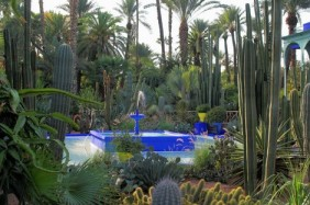 The garden designed by Jacque Majorelle is one of major attractions of Marrakesh