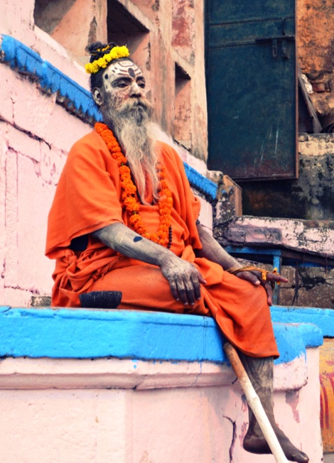 One of the most common faces on the ghats of Banaras