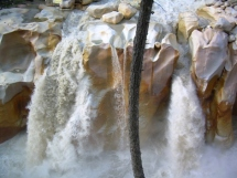 Fall on the Bhagirathi in Gangotri