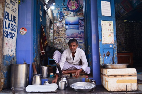 Blue Lassi Shop is one of the most favorite places of travellers in Varanasi