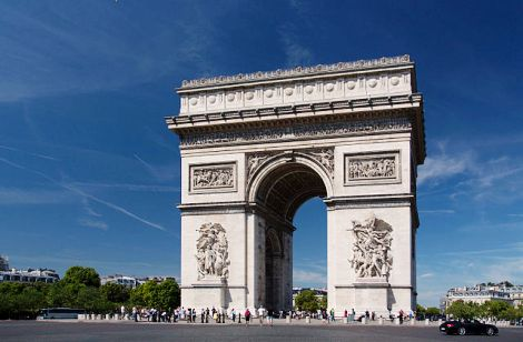 Arc de Triomphe de l'Étoile in Paris. Photo credit: www.wikipedia.org