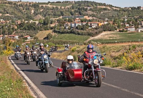 Harley group rides